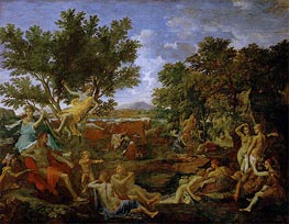 Apollo, Lover of Daphne | Nicolas Poussin | Gemälde Reproduktion