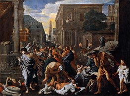 The Plague of Ashdod (The Philistines Struck by the Plague), c.1630/31 by Nicolas Poussin | Painting Reproduction