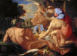 Moses Abandoned | Nicolas Poussin | Gemälde Reproduktion