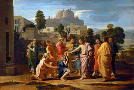 The Blind of Jericho (Christ Healing the Blind) | Nicolas Poussin | Gemälde Reproduktion