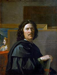 Self Portrait, 1650 by Nicolas Poussin | Painting Reproduction