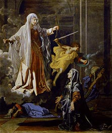 Saint Francoise Romana and the Miracle of the Plague | Nicolas Poussin | Gemälde Reproduktion