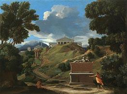 Landscape with Ruins | Nicolas Poussin | Gemälde Reproduktion