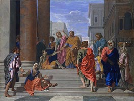 Saints Peter and John Healing the Lame Man | Nicolas Poussin | Gemälde Reproduktion