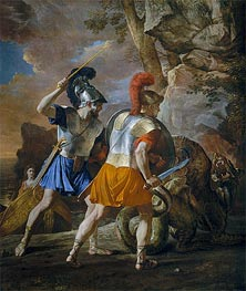 The Companions of Rinaldo, c.1633 by Nicolas Poussin | Painting Reproduction