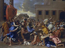 The Abduction of the Sabine Women, c.1633/34 by Nicolas Poussin | Painting Reproduction