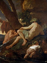 Midas Washing at the Source of the Pactolus | Nicolas Poussin | veraltet
