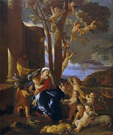 The Rest on the Flight into Egypt | Nicolas Poussin | Gemälde Reproduktion