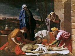 Entombment of Christ, c.1655/57 by Nicolas Poussin | Painting Reproduction