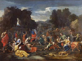 Israelites Gathering Manna in the Desert, c.1637/39 by Nicolas Poussin | Painting Reproduction