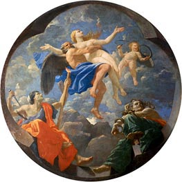 Truth Stolen Away by Time Beyond the Reach of Envy and Discord, 1641 by Nicolas Poussin | Painting Reproduction