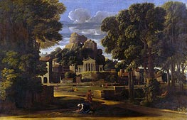Landscape with the Gathering of the Ashes of Phocion | Nicolas Poussin | Gemälde Reproduktion