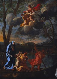 The Return of the Holy Family to Nazareth, c.1627 by Nicolas Poussin | Painting Reproduction