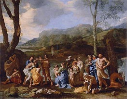 Saint John Baptizing in the River Jordan, c.1630 by Nicolas Poussin | Painting Reproduction