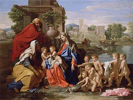 The Holy Family, c.1651 by Nicolas Poussin | Painting Reproduction