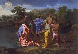 The Baptism of Christ, c.1658 by Nicolas Poussin | Painting Reproduction