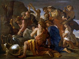 Moses Sweetening the Waters of Marah, c.1627/28 by Nicolas Poussin | Painting Reproduction