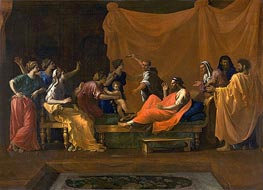 The Infant Moses Trampling Pharoah's Crown | Nicolas Poussin | Gemälde Reproduktion