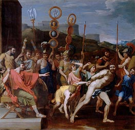 Camille Delivers the Schoolmaster of Falerii to His Pupils | Nicolas Poussin | veraltet