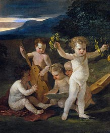 Concert of Cupids, c.1626/27 by Nicolas Poussin | Painting Reproduction