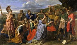 Coriolanus Entreated by His Wife and His Mother | Nicolas Poussin | Gemälde Reproduktion