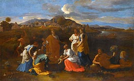 Moses Rescued from the Water | Nicolas Poussin | Gemälde Reproduktion