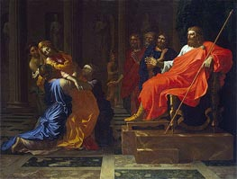 Esther before Ahasuerus | Nicolas Poussin | Gemälde Reproduktion