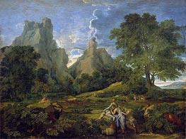 Landscape with Polyphemus | Nicolas Poussin | Gemälde Reproduktion