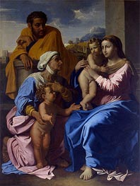 Holy Family with St Elizabeth and John the Baptist, c.1644/55 by Nicolas Poussin | Painting Reproduction