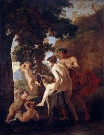 Venus, Faun and Putti | Nicolas Poussin | Gemälde Reproduktion