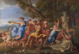 A Bacchanalian Revel before a Term | Nicolas Poussin | Gemälde Reproduktion