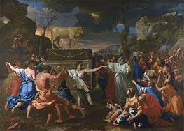 The Adoration of the Golden Calf, c.1633/34 by Nicolas Poussin | Painting Reproduction