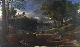 Landscape with a Man killed by a Snake | Nicolas Poussin | Gemälde Reproduktion