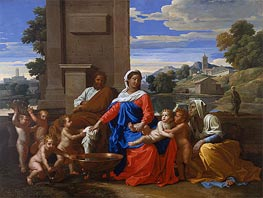 The Holy Family with the Infant Saint John the Baptist and Saint Elizabeth | Nicolas Poussin | veraltet