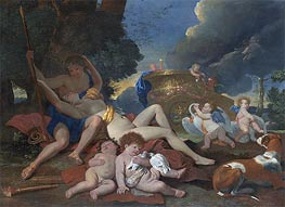 Venus and Adonis, c.1628/29 by Nicolas Poussin | Painting Reproduction