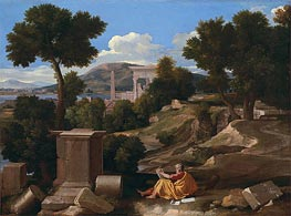 Landscape with Saint John on Patmos | Nicolas Poussin | Gemälde Reproduktion