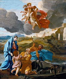 The Return of the Holy Family from Egypt | Nicolas Poussin | Gemälde Reproduktion
