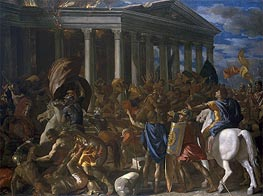The Destruction and Sack of the Temple of Jerusalem | Nicolas Poussin | Gemälde Reproduktion