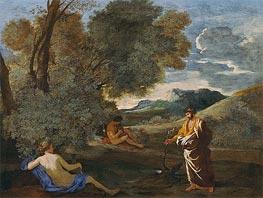 Numa Pompilius and the Nymph Egeria | Nicolas Poussin | Gemälde Reproduktion