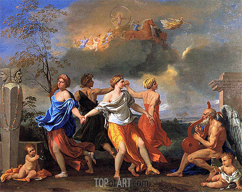 Dance to the Music of Time, c.1634/36 | Nicolas Poussin | Gemälde Reproduktion