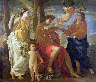 Inspiration of the Poet, c.1627/29 | Nicolas Poussin| Painting Reproduction
