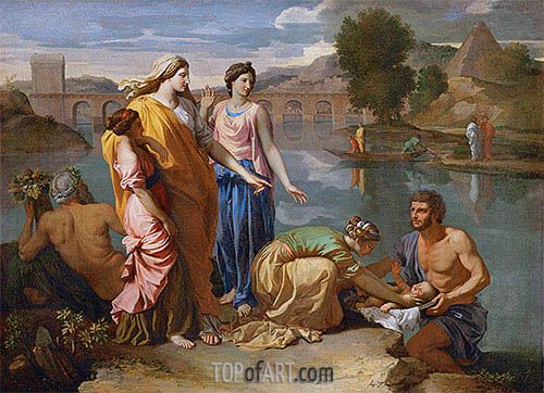 The Finding of Moses, 1638 | Nicolas Poussin | Painting Reproduction