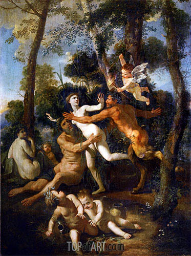 Nicolas Poussin | Pan and Syrinx, c.1637/38