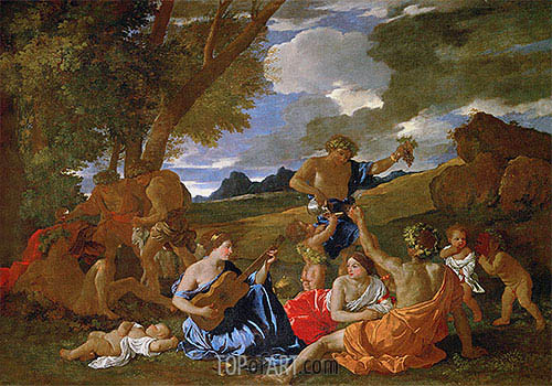 Nicolas Poussin | Bacchanalian Scene, c.1627/28