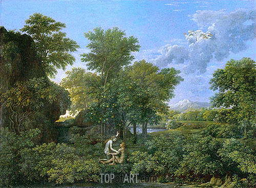 Spring (The Garden of Eden), c.1660/64 | Nicolas Poussin| Painting Reproduction
