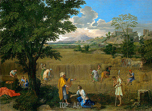 Summer (Ruth and Boaz), c.1660/64 | Nicolas Poussin | Painting Reproduction