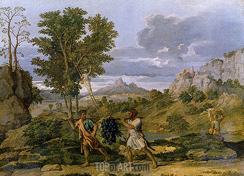 Autumn (The Bunch of Grapes Taken from the Promised Land), c.1660/64 | Nicolas Poussin| Painting Reproduction