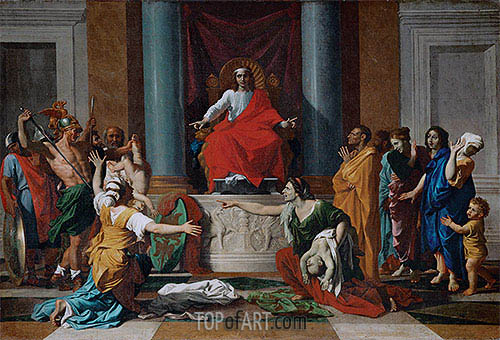 The Judgement of Solomon, 1649 | Nicolas Poussin| Painting Reproduction