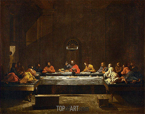 Holy Eucharist, c.1638/40 | Nicolas Poussin| Painting Reproduction