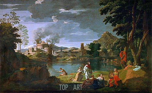 Nicolas Poussin | Orpheus and Eurydice, c.1659